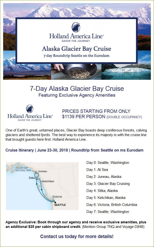 Alaska Glacier Bay Cruise